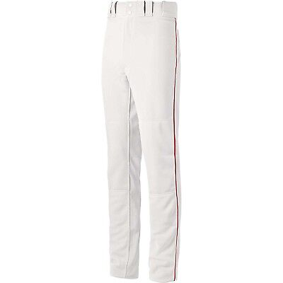 (Small, White/Red) - Mizuno Global Elite Piped Pant. Shipping is Free