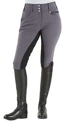 (28 Long, Anthracite/black) - Romfh Ladies Champion 3-Button Full Seat Breech