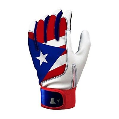 Puerto Rico Flag Batting Gloves -White. latinos r us. Free Delivery