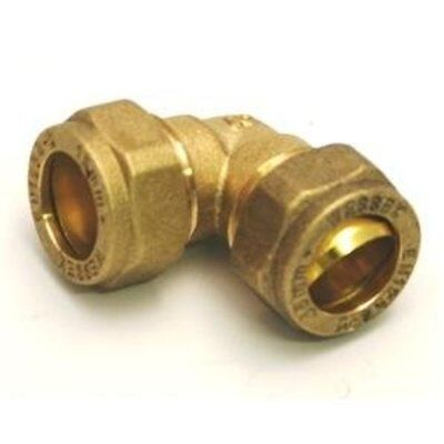 Plumbing Compression Brass Elbows Bends Fitting sizes 8mm 10mm 15mm 22mm 28mm