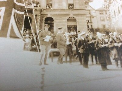 Vintage Rppc Unveiling Of Monument British Town Future Edward Viii Abdicated
