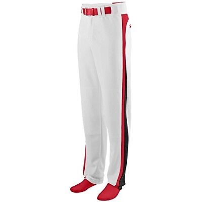 (Adult 2XL (Waist 44-46), White Pants with Red/Black Piping) - Travel