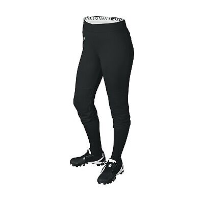 (Large, Black) - DeMarini Womens Sleek Pull Up Pant. Best Price