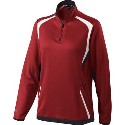 (XX-Large, Scarlet/Black/White) - Holloway Ladies Transform Pullover. Brand New