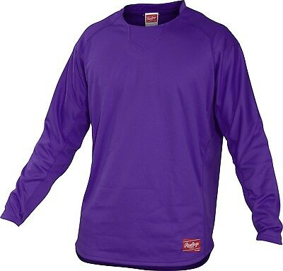 (Small, Purple) - Rawlings Youth Dugout Fleece Pullover. Rawlings Sporting Goods