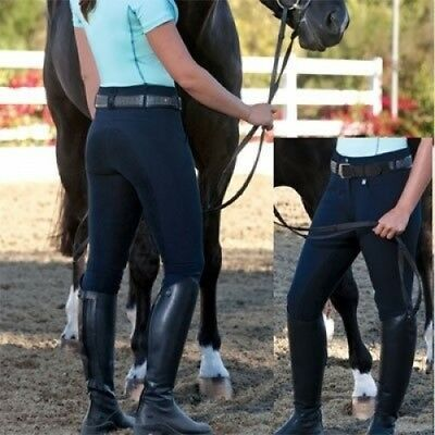 (26 Regular, Dark Navy) - Romfh Ladies Champion 3-Button Full Seat Breech