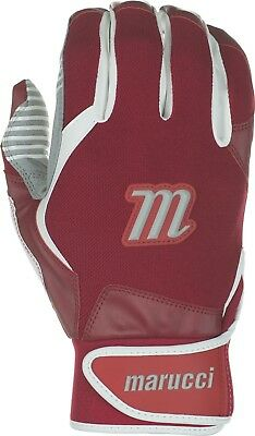 (Adult Large, Red) - Marucci Venture Batting Gloves. Shipping is Free