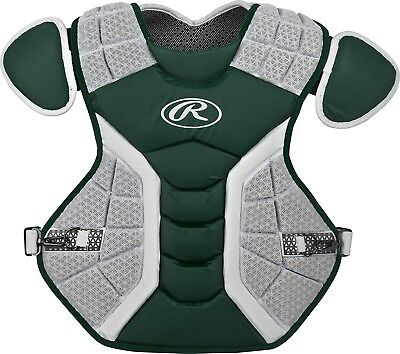 (39cm , Matte Dark Green) - Rawlings Pro Preferred Series Chest Protector