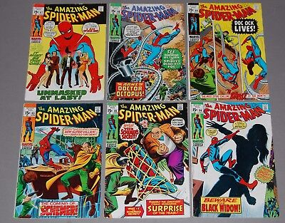AMAZING SPIDER-MAN #83 85 #86 Black Widow 87 88 89 Marvel Silver Age Comic Lot
