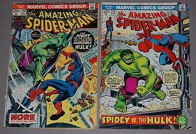 AMAZING SPIDER-MAN #119 #120 Hulk Battle KEY ISSUES Marvel Bronze Age Comic Lot