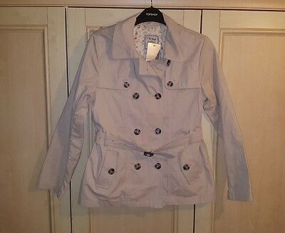 Bnwt Next Beige Shower Resistant Hooded Trench Belted Coat Jacket Age 12 Years