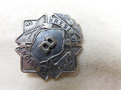 Late 1800's Breslau (Lindenhurst) New York Fire Department Engine Co. Badge #6
