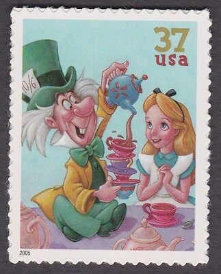 ALICE IN WONDERLAND & MAD HATTER Art of DISNEY CELEBRATION 37c POSTAGE STAMP MNH