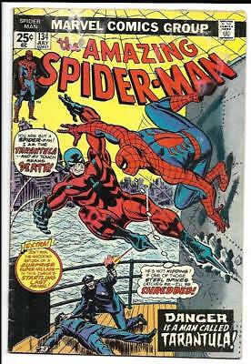 AMAZING SPIDER-MAN #134 1st App The Tarantula KEY ISSUE Marvel Bronze Punisher