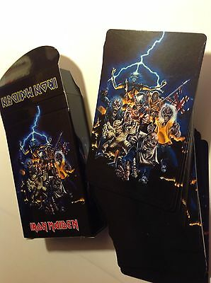 Rare Iron Maiden set of playing cards with eddie LP Shapes Picture-disc Photo's