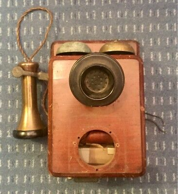 Rare Wooden Wall Telephone GPO No.121, Ideal For Restoration Project.