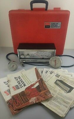 SUN Inductive Diagnostic Tune-Up Kit Compression Vacuum Dwell Tach Tester & Case
