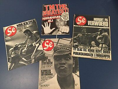 Muhammad Ali / Cassius Clay Magazines from 1965, 1966 and 1975