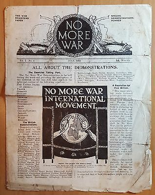 WWI 1922 Conscientious Objectors Paper Lists Soldiers Executed