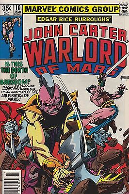 John Carter Warlord of Mars #10 (Mar 1978, Marvel) Barsoom FN