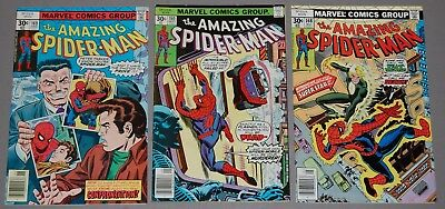 AMAZING SPIDER-MAN #160 Spider-Mobile #168 #169 Marvel Bronze Age 3pc Lot