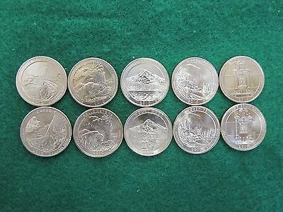 2010 America The Beautiful P & D 10 Coin Uncirculated Set.