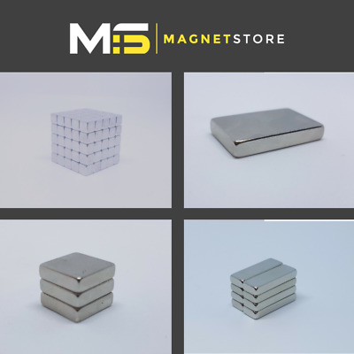 All Sizes: Neodymium Block Magnet, 2mm 5mm 8mm 10mm 12mm etc Strong DIY Powerful