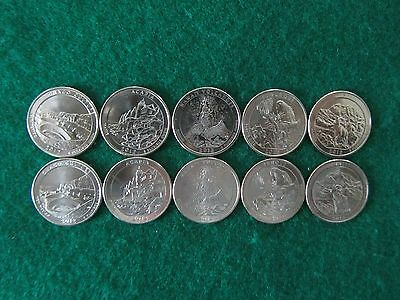 2012 America The Beautiful P & D 10 Coin Uncirculated Set.