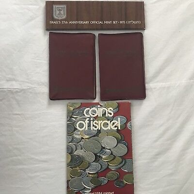 Coins of Israel's Official Uncirculated Mint Coin Mixed Sets 1970 1975 1984