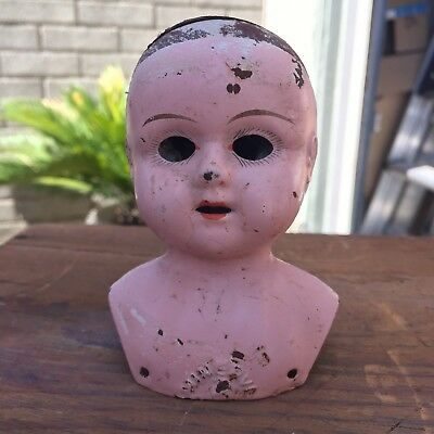 Antique Minerva Metal Doll Head No. 1 Germany