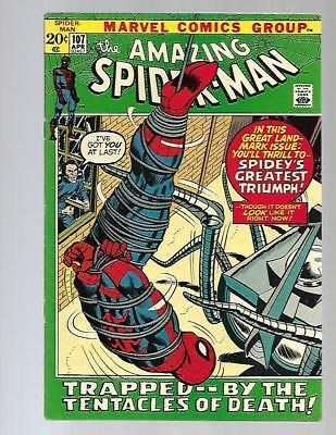 AMAZING SPIDER-MAN #107 VF+ High Grade Stan Lee Romita Marvel Bronze Age Comic