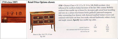 John Widdicomb Credenza 1710 Drawer Chest (Circa 1997)