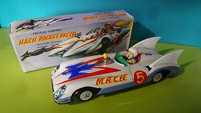 mega rare tin Speed Racer Machee Gogo car ASC Aoshin Japan orig. box 1960 manga