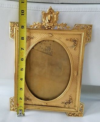 Vintage Brass Picture Frame Oval Opening - made in FRANCE