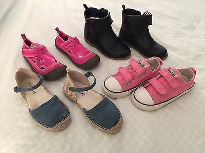 Lot Of Toddler Girls  Shoes Size 10, Converse, Champion, Old Navy
