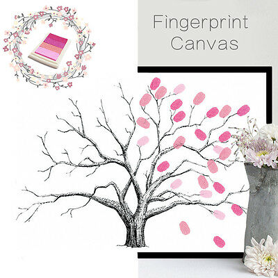 Canvas Wedding Tree Fingerprint Guest Wedding Gift Decoration Party Supply Tree