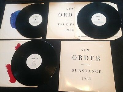"""New Order 2Lp Set On Factory Fact 200 :whitesleeve Substance: Plus Free 1983 12"""""""