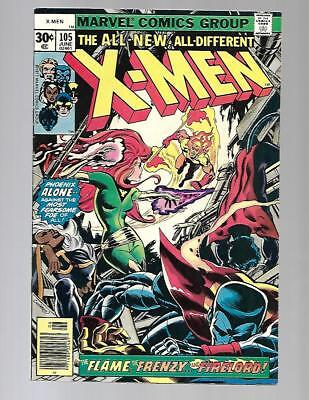 UNCANNY X-MEN #105 VF High Grade Phoenix vs Firelord Claremont Cockrum Bronze