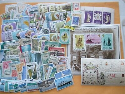 Nice collection (lot) of 80 different Tristan da Cunha
