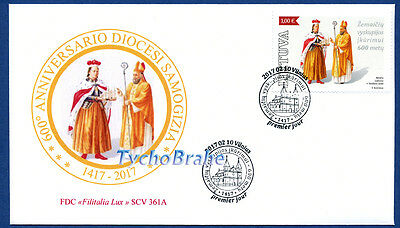 FDC DIOCESE SAMOGITIA 2017 LITHUANIA LIETUVA JOINT First Day Cover FILITALIA 361