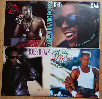 JOBLOT x4 BOBBY BROWN Vinyl 45rpm Singles