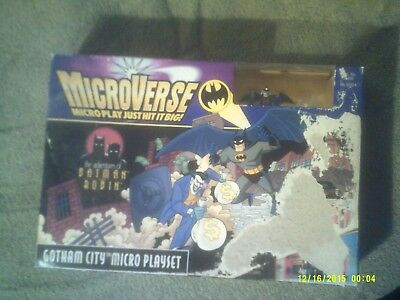 Microverse Gotham City Micro Playset/the Adventures Of Batman & Robin / 1996