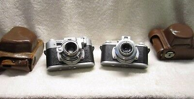 Two Vintage Kodak 35mm Camera 2 Cameras  Clean Inside  Not tested  + Cases