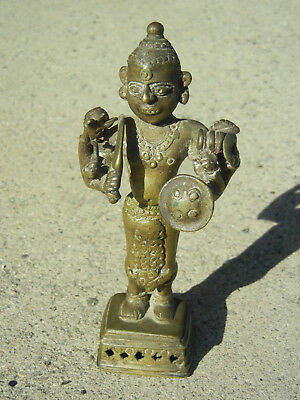 Old Bronze Statue of a Deity from India or Southeast Asia