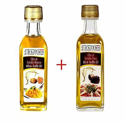 1x White + 1x Black TRUFFLE ExtraVirgin Olive OIL 2x 1.86oz 55ml ITALY כמהין TOP