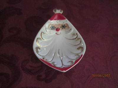 Vintage Holt Howard Santa Dish, nice condition, 1959, clean, mini  candy dish