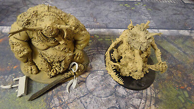 Greater Daemons of Nurgle Forgeworld Great Unclean One Corbax and Scabiathrax