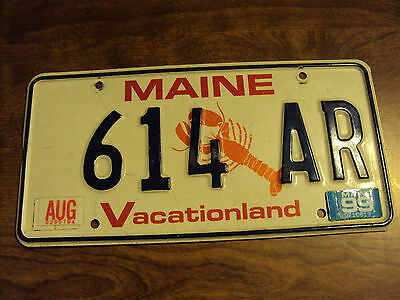 1999 License Plate #614 Ar-Lobster Graphic