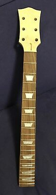 Unfinished Electric Guitar Neck 3x3 Headstock Telecaster Heel 24.75 Scale Length