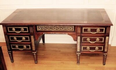 Louis XVI Bronze Executive Plat Desk